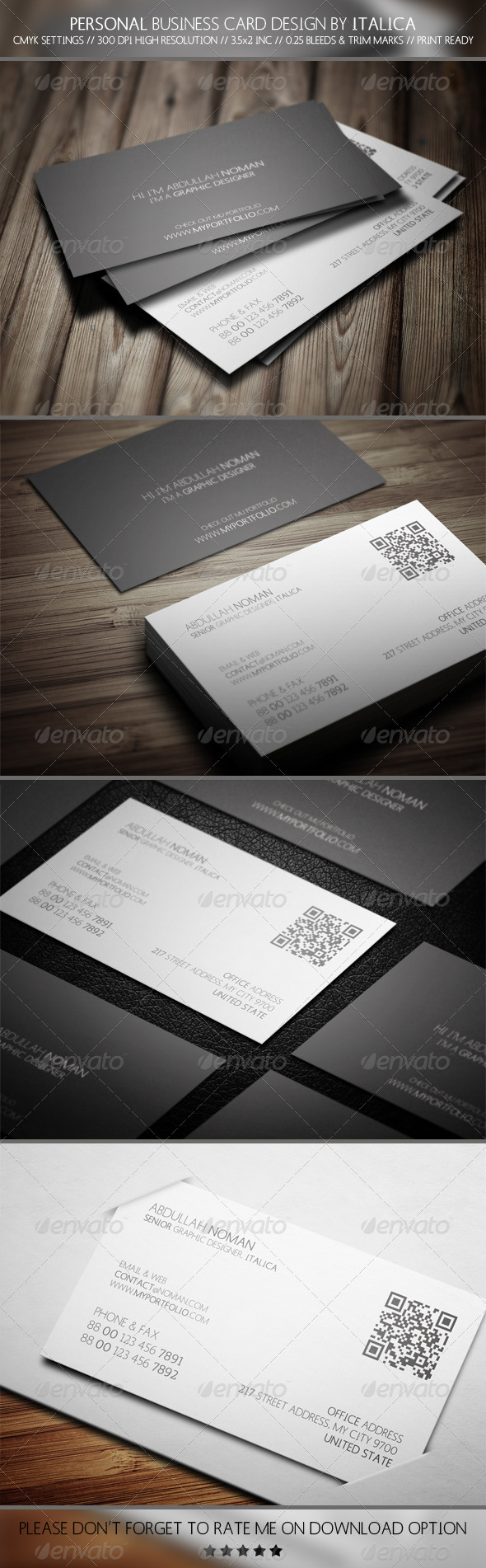 GraphicRiver Personale Business Card Design by Italica 5760111