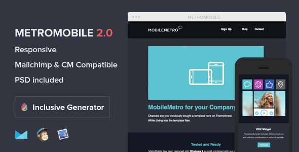 MobileMetro - Respons. Email With Template Builder