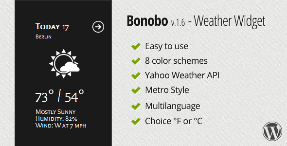 Bonobo - Weather Widget - CodeCanyon Item for Sale