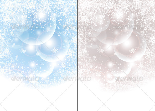 GraphicRiver Abstract Winter Background with Balls Snowflakes 5761168