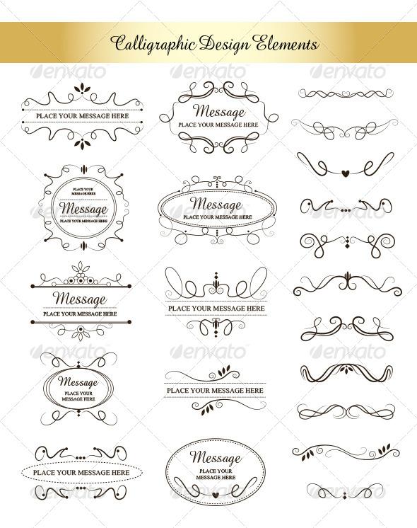 GraphicRiver Calligraphic Design Elements 5761664