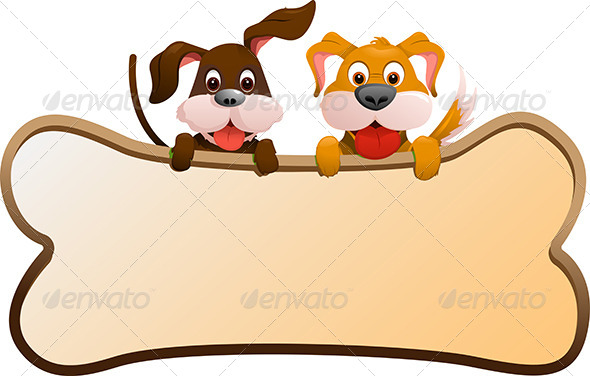 GraphicRiver Dogs with Banner 5761927