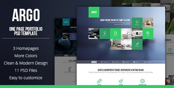 Argo - One Page Portfolio PSD Template - Portfolio Creative