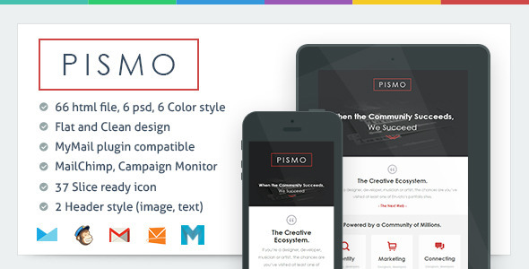 ThemeForest Pismo Responsive Email Template 5763474