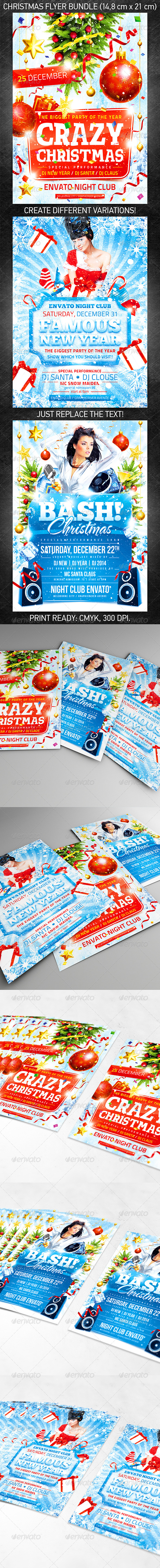 GraphicRiver Christmas Celebration Flyer Bundle 5764949