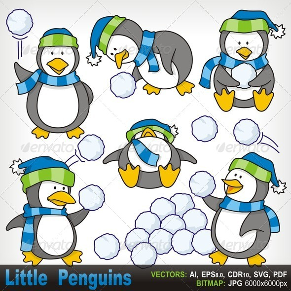 GraphicRiver Little Penguins 5765017