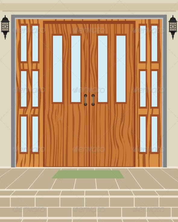 House Door Models Stock Photos Graphics