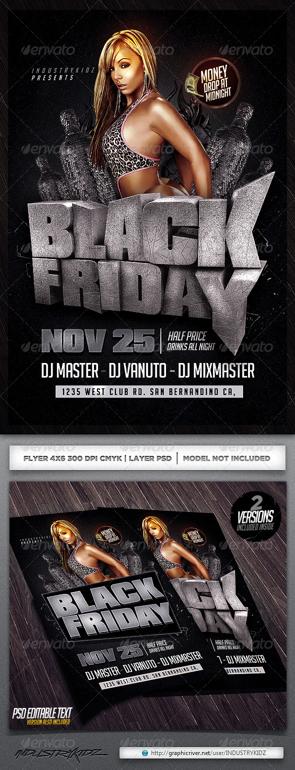 GraphicRiver Black Fridays Flyer Template 5766522