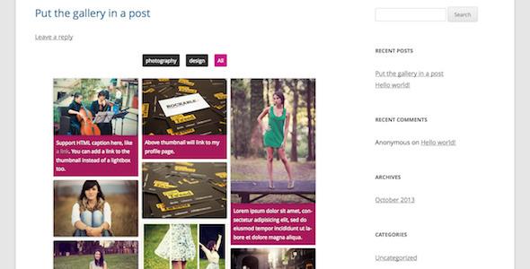 CodeCanyon Pinterest Grid Gallery WordPress Plugin 5766551