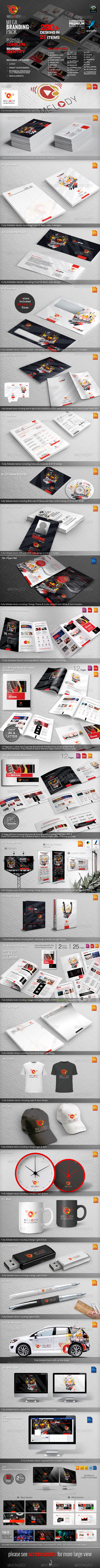 GraphicRiver Melody Corporate Identity Mega Branding Pack 5766613