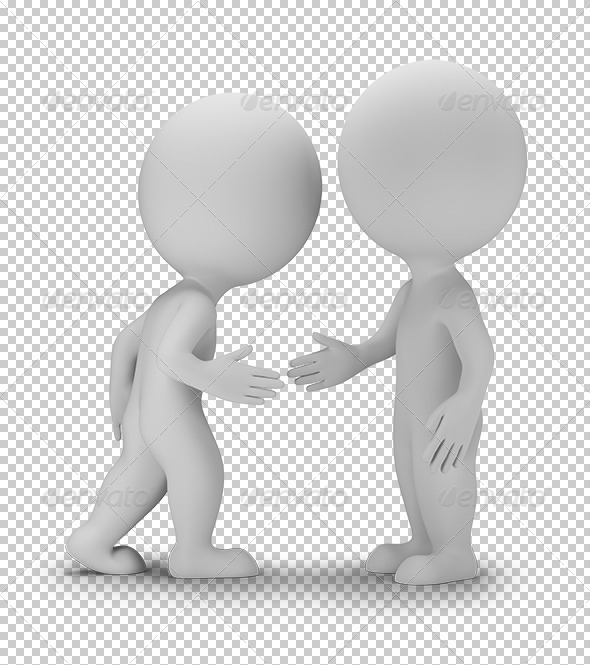 GraphicRiver 3D Small People Agreed 5766761