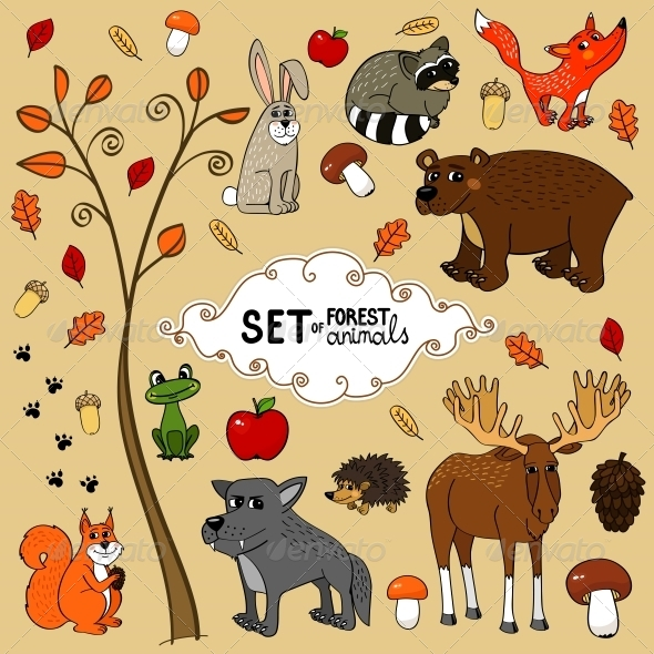 GraphicRiver North Forest Animals 5766974