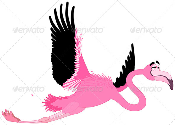 GraphicRiver Comic Flamingo 5767129