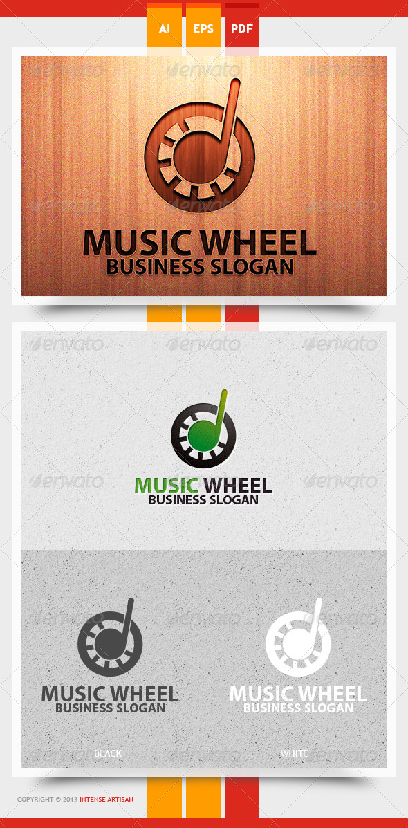GraphicRiver Music Wheel Logo Template 5767134
