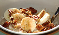 Vegan Breakfast Oats with Coconut Milk, Pecan Nuts and Banana - PhotoDune Item for Sale