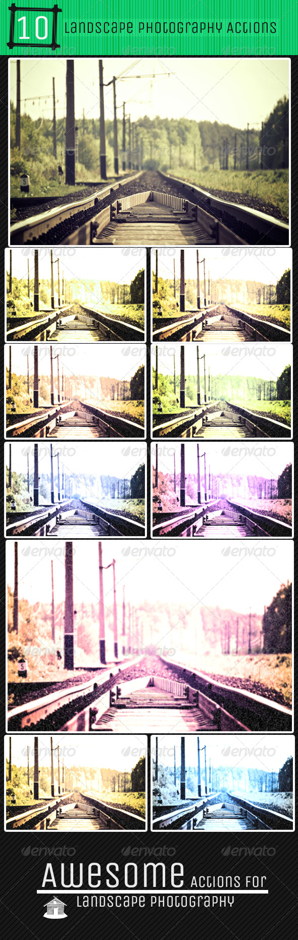 GraphicRiver 10 Grungy Landscape Photography Actions 5767699