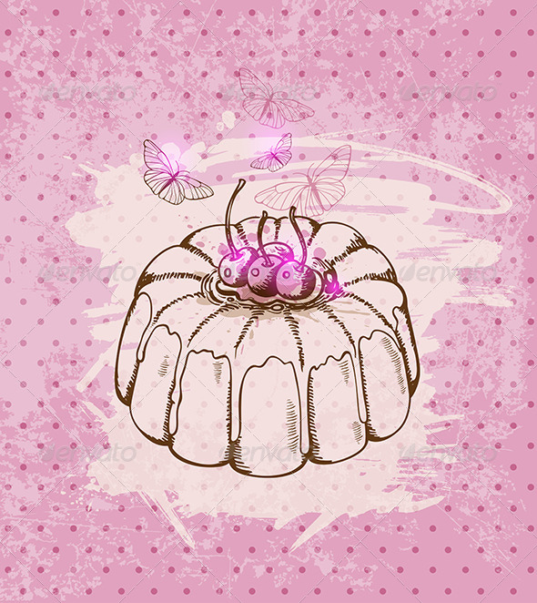 GraphicRiver Cherry Cake 5767795