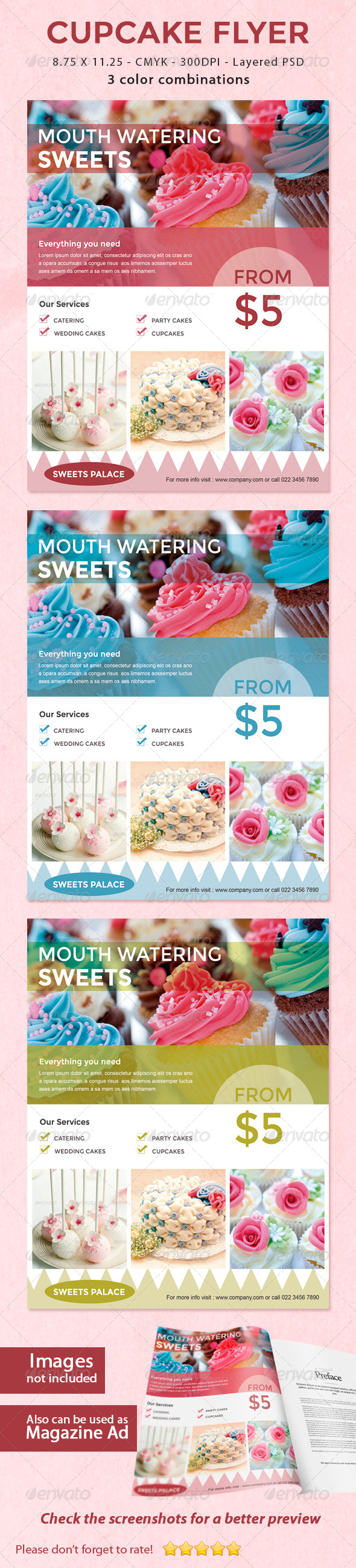 GraphicRiver Cupcake Sweets Flyer 5767801