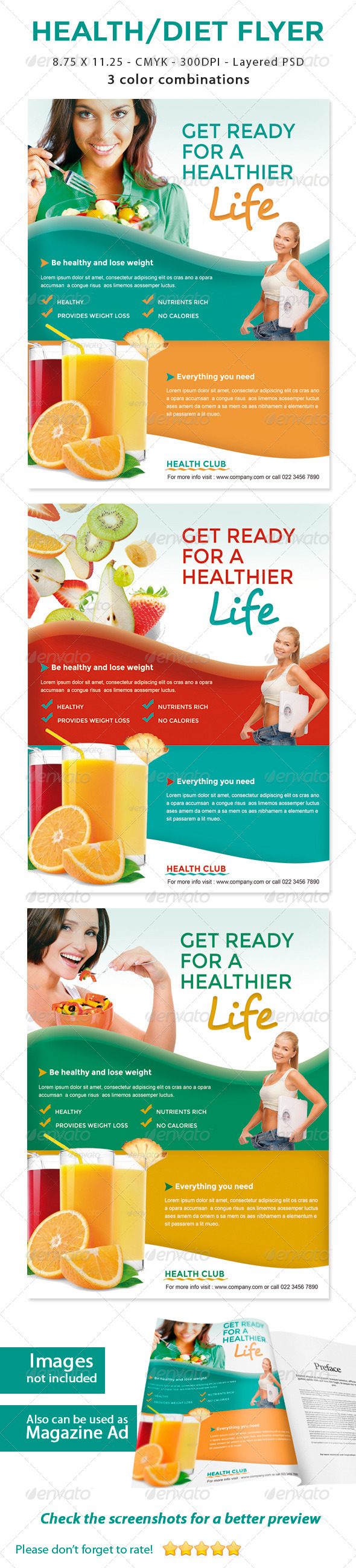 GraphicRiver Healthy Life Diet Flyer 5767940