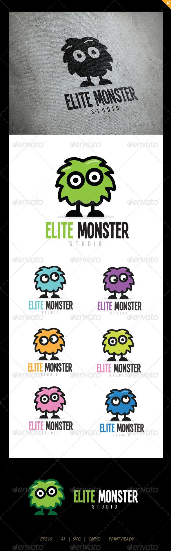GraphicRiver Elite Monster Logo 5768139