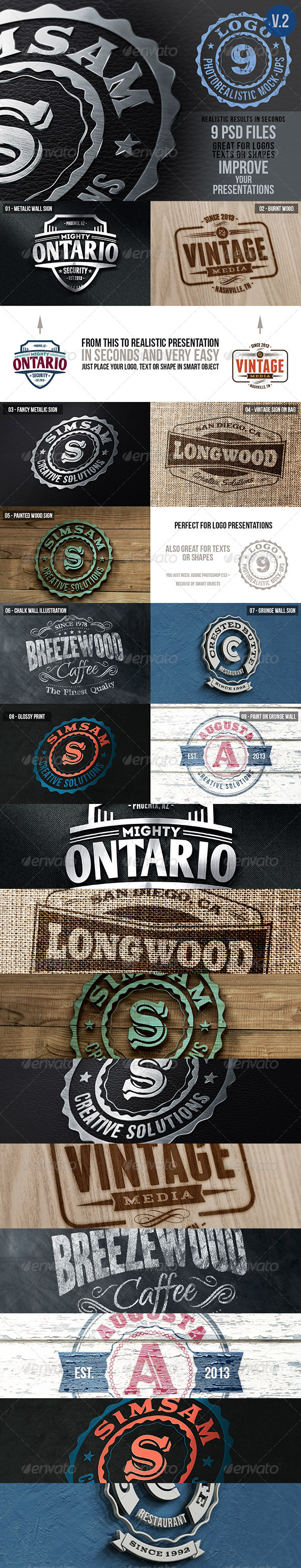 GraphicRiver Photorealistic Logo Mock-Ups Vol.2 5768523