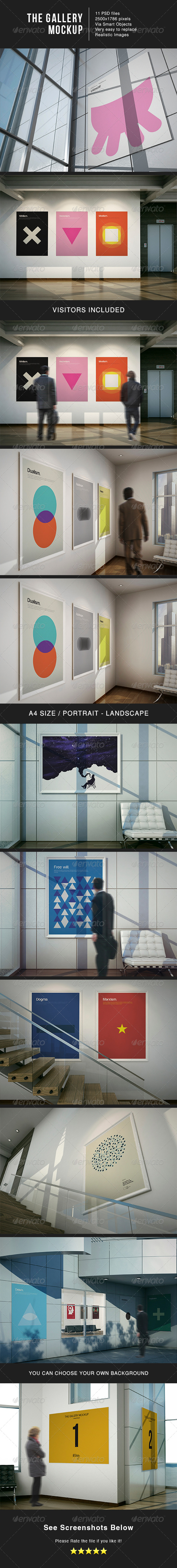 The Gallery MockUp - Posters Print