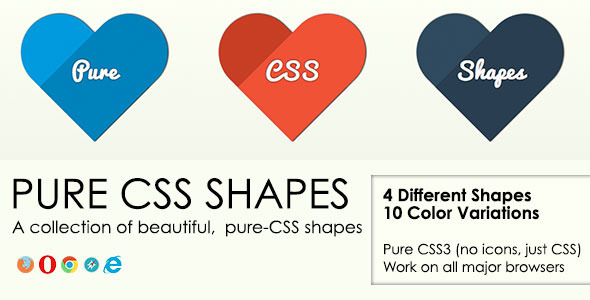 Pure CSS Shapes - Vol. 1 - CodeCanyon Item for Sale