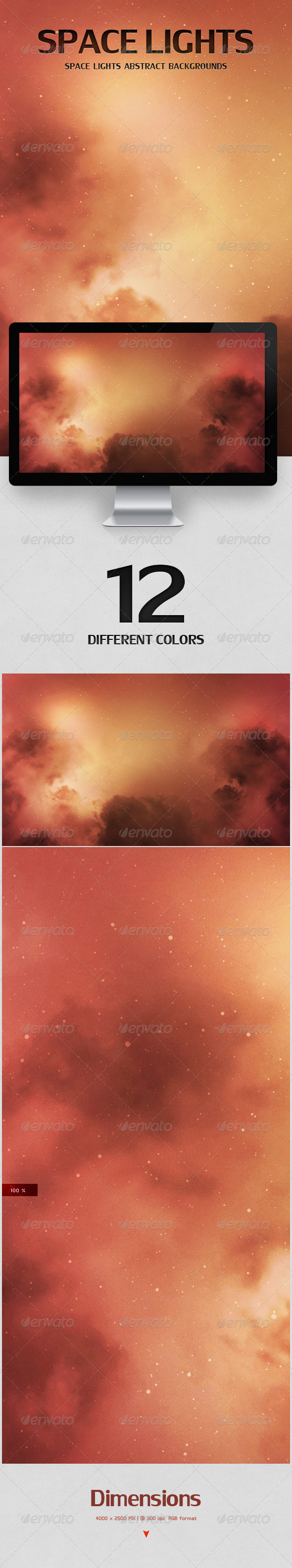 GraphicRiver Space Lights Abstract Backgrounds 5769003