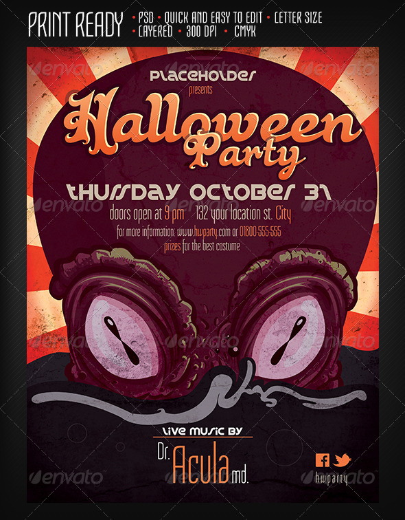 GraphicRiver Halloween Party 5706277