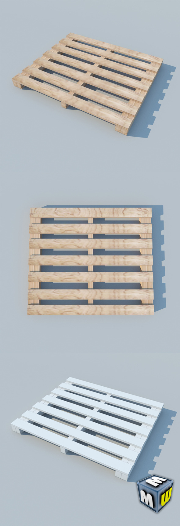 3DOcean Wood Pallet 2 MAX 2011 5650759