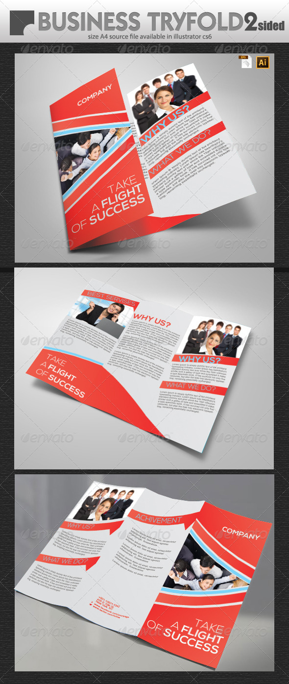 GraphicRiver Business Try-Fold Design 5769478