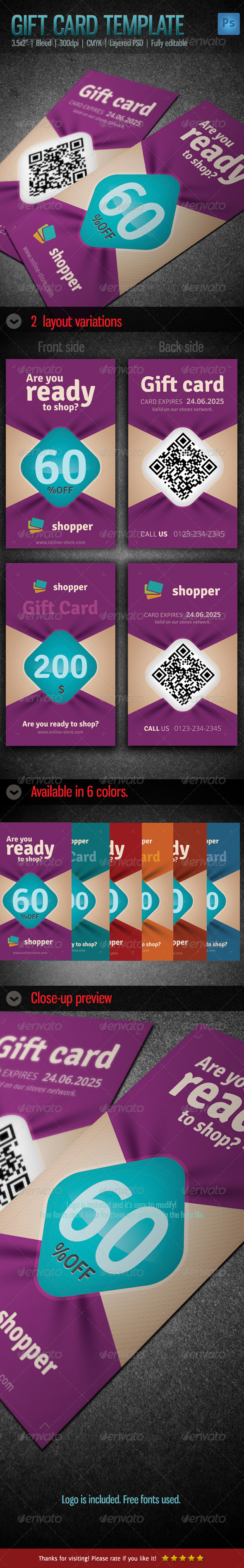 GraphicRiver Gift Voucher Card Template 2 5770070
