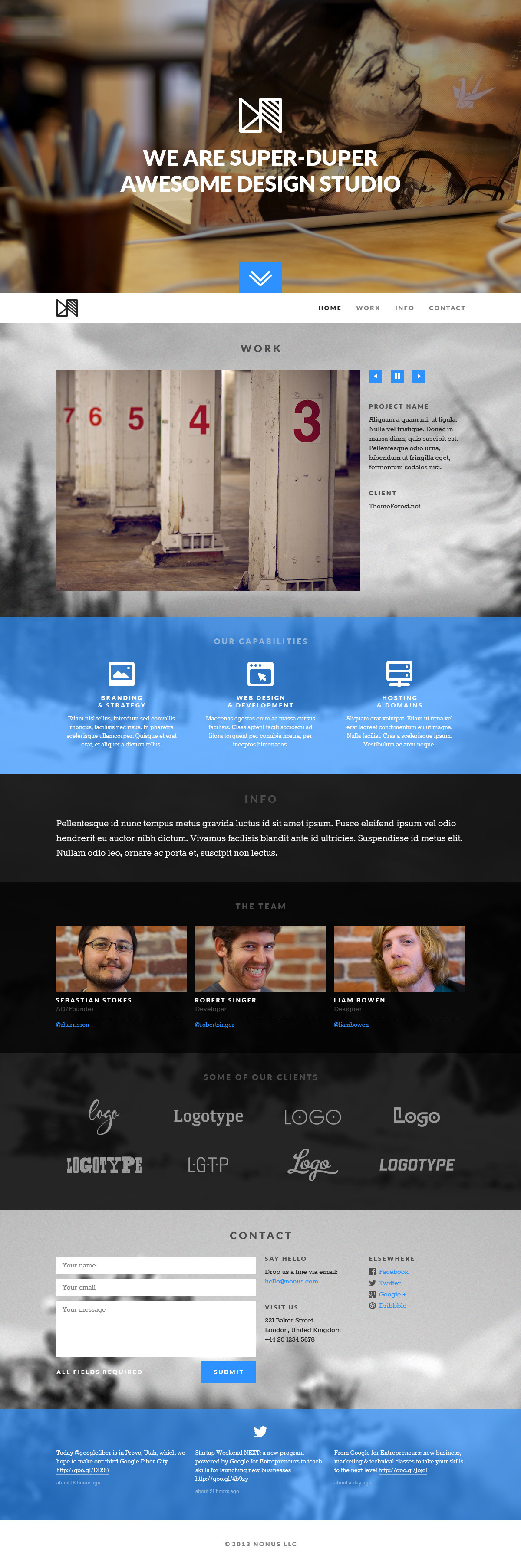 Nonus Parallax Wordpress Portfolio
