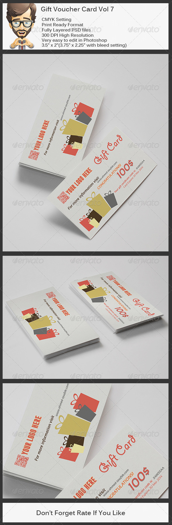 GraphicRiver Gift Voucher Card Vol 7 5770446