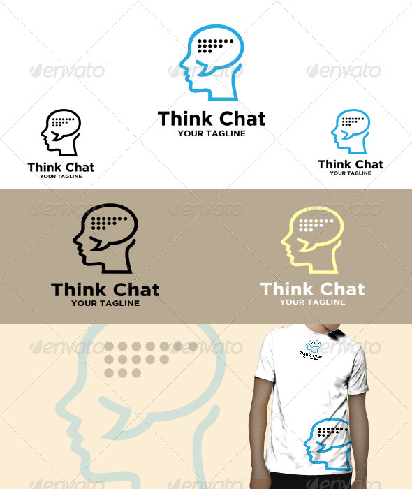 GraphicRiver Think chat Logo 5770466