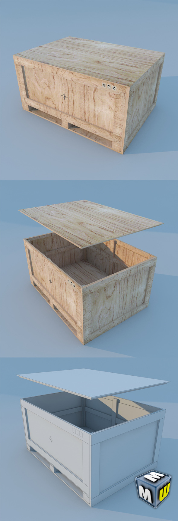 3DOcean Wood Container MAX 2011 5650630
