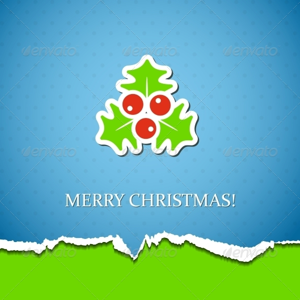 GraphicRiver Holiday Background with Mistletoe 5770532