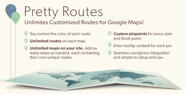 CodeCanyon Pretty Routes Add Routes to Google Maps 5770616