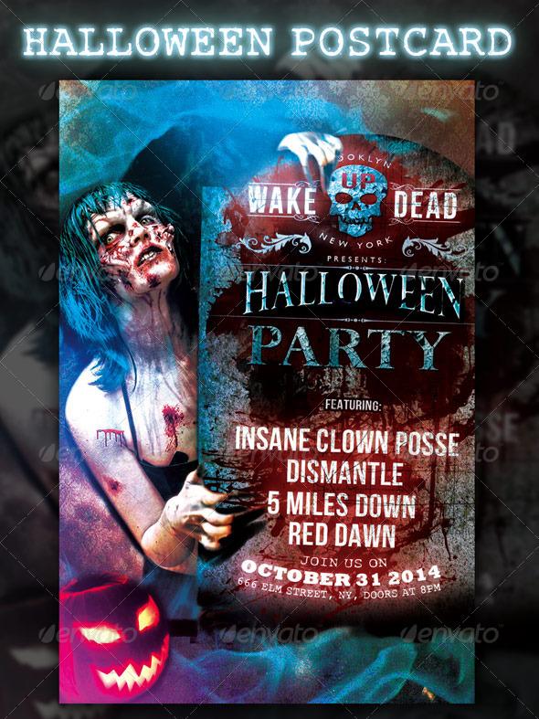 GraphicRiver Halloween Postcard Design 5770993