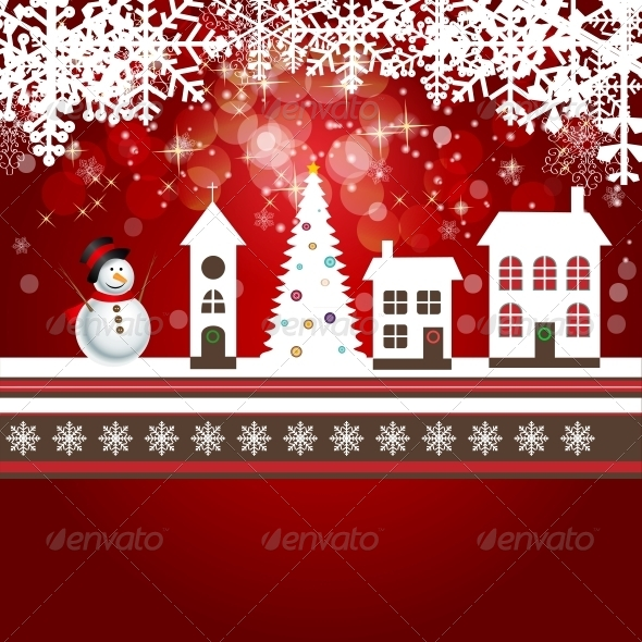 GraphicRiver Abstract Christmas and New Year Background 5771066