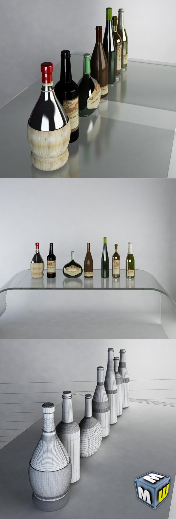 3DOcean Luxury Wine Bottles MAX 2011 5648640