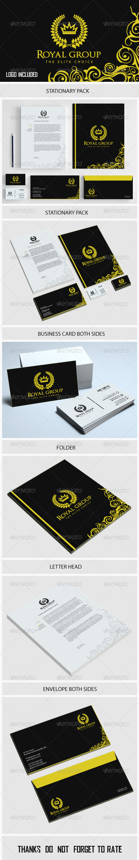 GraphicRiver Royal Group Stationary 5771198