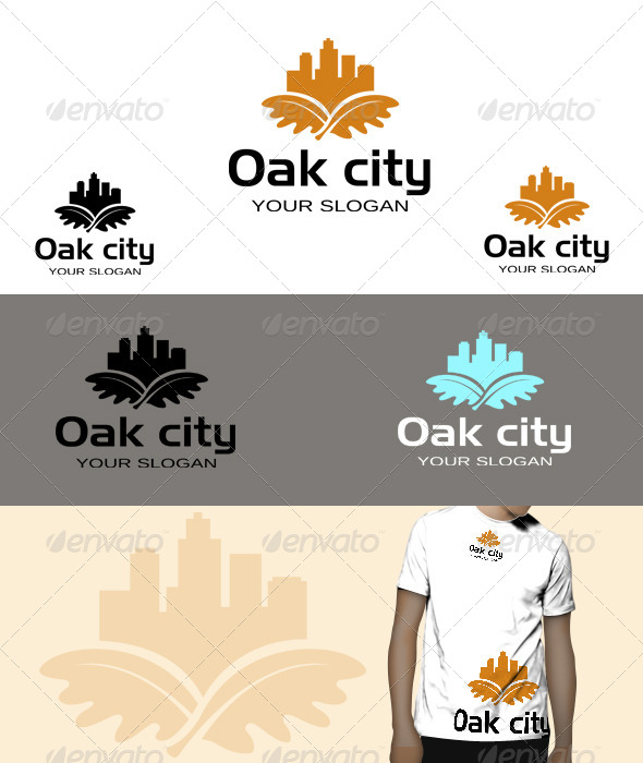 GraphicRiver Oak City Logo 5771291