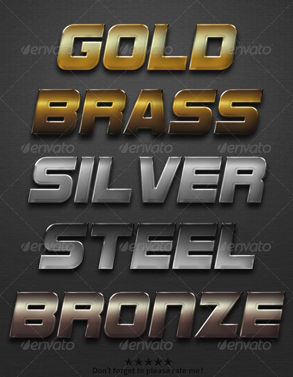 GraphicRiver Metal Action Set 5771317