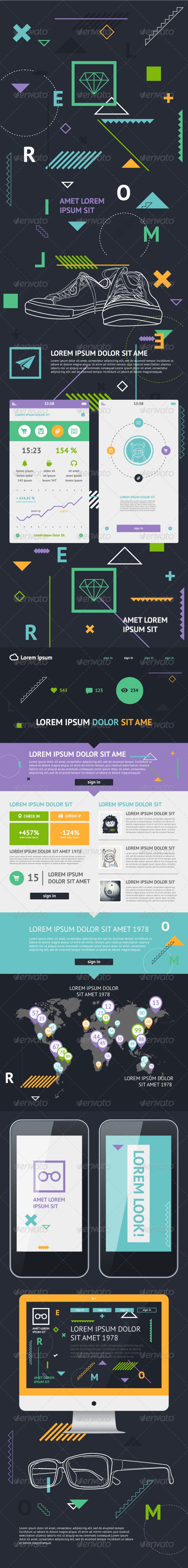 GraphicRiver Flat Elements of Infographics 5771422
