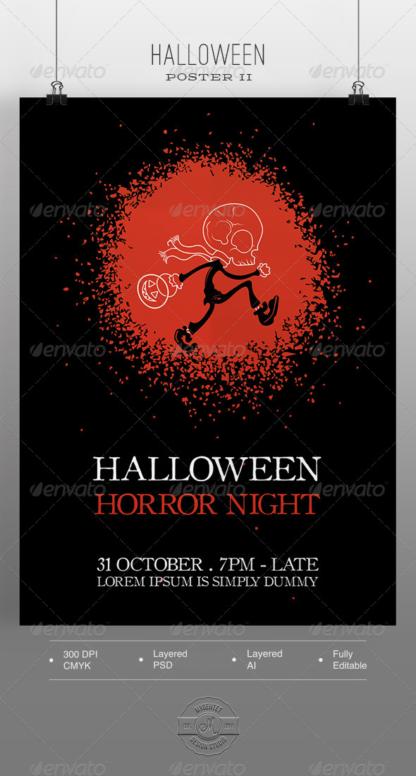 GraphicRiver Halloween Poster II 5771585
