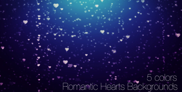 Romantic Hearts Backgrounds