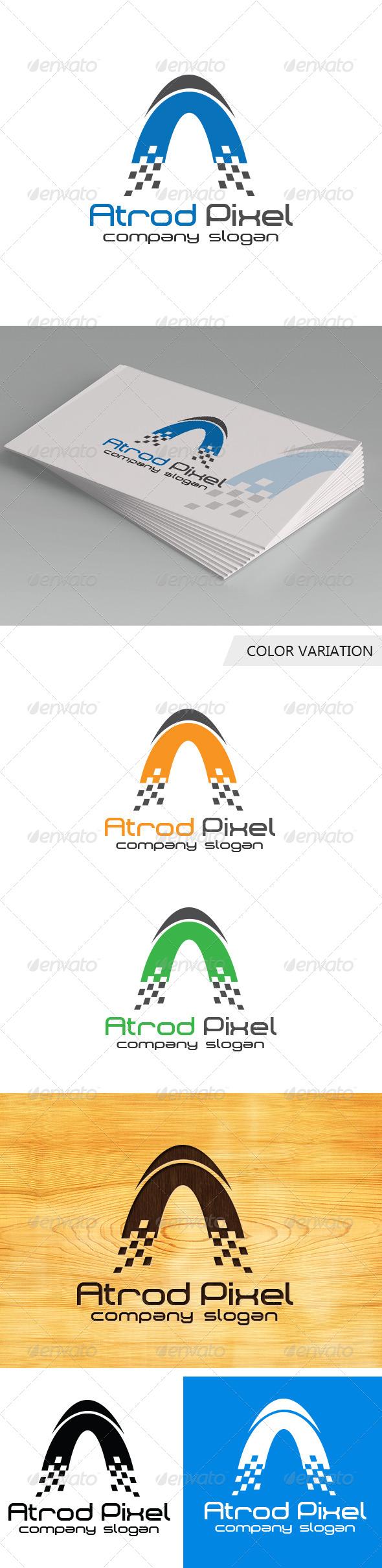 GraphicRiver Atrod Pixel Logo Template 5771954