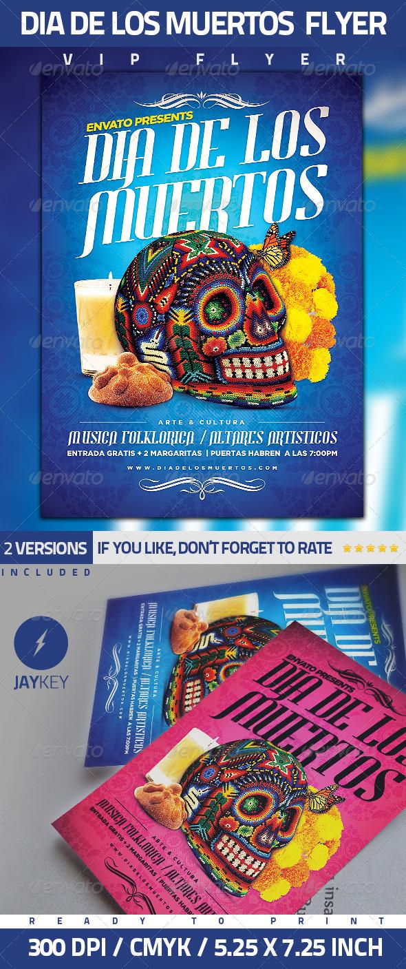 GraphicRiver Dia De Los Muertos Flyer 5773473