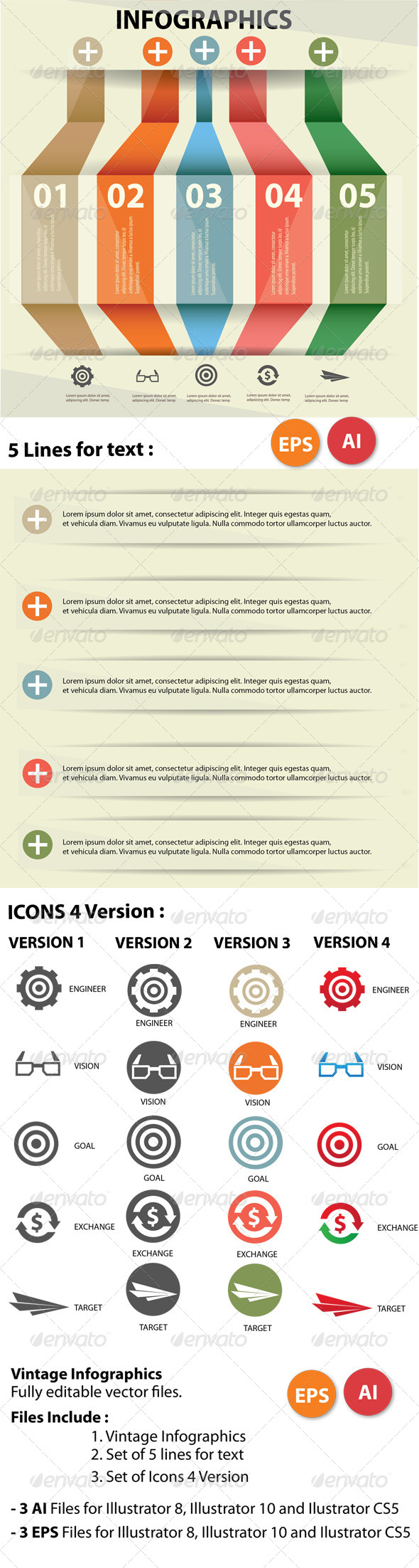 GraphicRiver Vintage Infographics 5773482